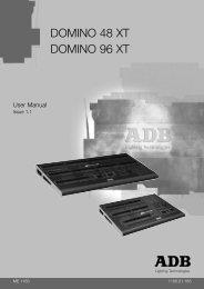 user manual domino x... - ADB Lighting Technologies