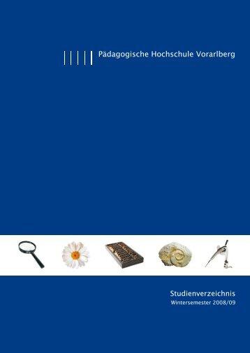 Studienverzeichnis für das Wintersemester 2008/09