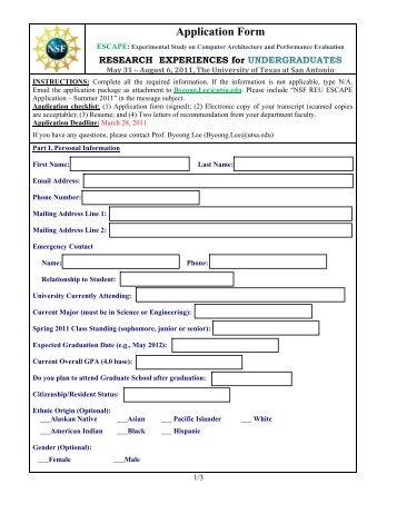 application form - electrical engineering | utsa - the university of
