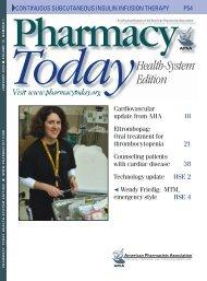 Health System Ed. Insert PDF - American Pharmacists Association