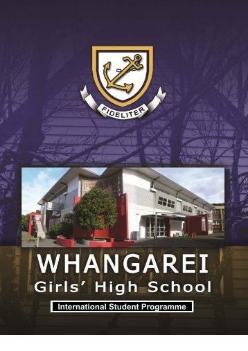 International Student Booklet - Whangarei Girls' High School
