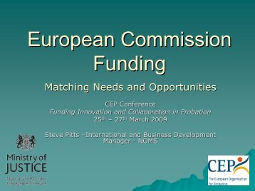 Fundraising at the EU - CEP, the European Organisation for Probation
