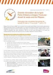 Grande rénovation de la ligne Paris-Orléans-Limoges ... - RFF