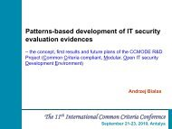 ID 113 Andrzej Bialas - Patterns-based development of IT security ...