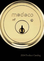 Medeco Door & Security Catalog - Locksmith Security Association of ...