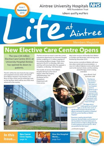 New Elective Care Centre Opens - Aintree University Hospitals NHS ...