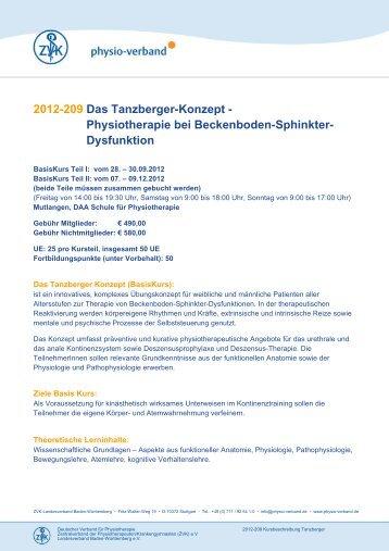 2012-209 Das Tanzberger-Konzept ... - Physio-Verband
