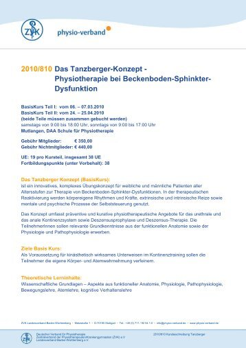 2010/810 Das Tanzberger-Konzept ... - Physio-Verband