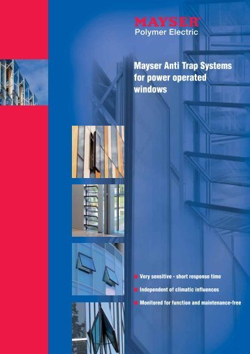 Mayser Anti Trap Systems for power operated windows (153 KByte)