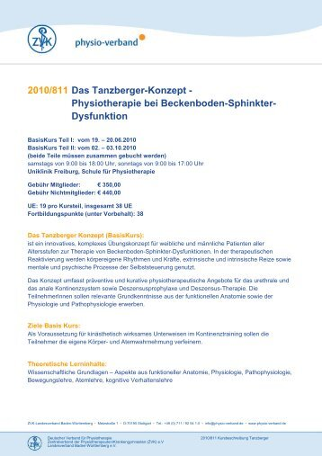 2010/811 Das Tanzberger-Konzept ... - Physio-Verband