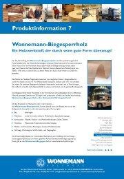 Produktinfo 7/Druck - Gerhard Wonnemann Holzwerk GmbH