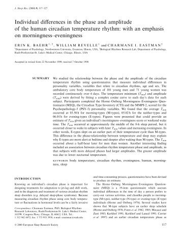 Individual differences in the phase and amplitude of the human ...