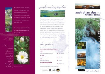 Overview brochure - Australian Alps National Parks