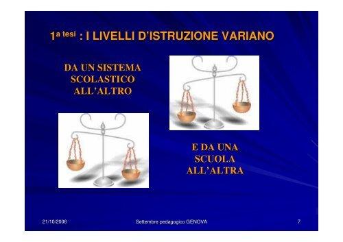 10 Tesi sull'equità scolastica - Norberto Bottani Website