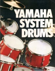 Page 1 Page 2 Yamaha System Drums for Freedom of Expression ...