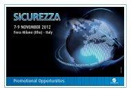 Promotional Opportunities - Sicurezza