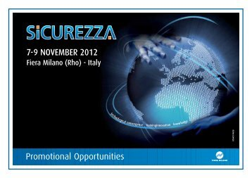 Promotional Opportunities - Sicurezza
