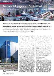 Neue Produktion für WALDNER Laboreinrichtungen - Grüne ...