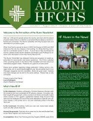 Alumni Newsletter Vol I August 2013 - Holy Family Catholic High ...