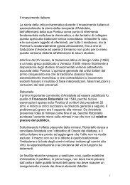 Il rinascimento italiano - Dipartimento di Storia dell'Arte e Spettacolo