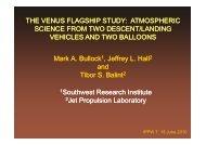 Mark A. Bullock 1, Jeffrey L. Hall and Tibor S. Balint 1Southwest ...