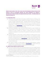 Relatório Anual relativo a 2011 sobre Linhas Gerais de ... - Banif