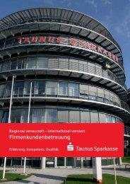 Firmenkundenbetreuung - Taunus Sparkasse