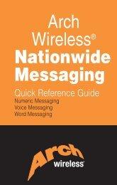 Arch Wireless® Nationwide Messaging
