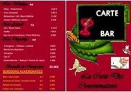 Carte de bar 2011 - Applications services
