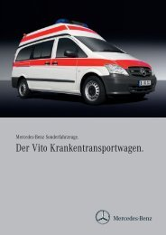 Der Vito Krankentransportwagen.