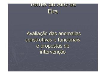 Torres do Alto da Eira - Programa Local de Habitação