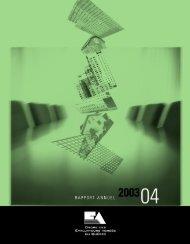 2003/2004 - Ordre des évaluateurs agréés du Québec