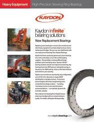 High-Precision Slewing Ring Bearings Heavy ... - Kaydon Bearings