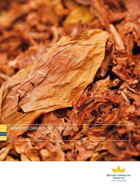 stakeholder report 2009-2010 - British American Tobacco Switzerland