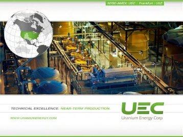UEC_Investor_Package.. - Uranium Energy Corp.