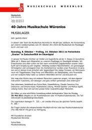 40-Jahre Musikschule Würenlos