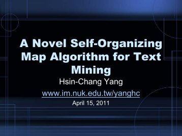 A Novel Self-Organizing Map Algorithm for Text Mining
