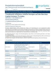 Trendmarkt Inflations Anleihe bezogen auf den Barclays ... - Bmarkets
