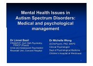 Mental Health Issues in Autism Spectrum Disorders - CHERI - The ...