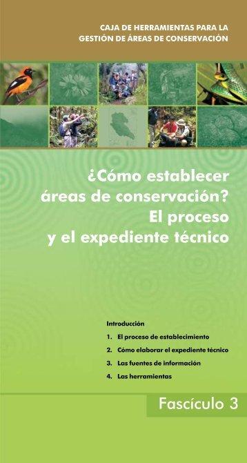Fascículo 3: ¿Cómo establecer áreas de conservación? - PDRS