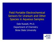 Field Portable Electrochemical Sensors for Uranium and Other ...
