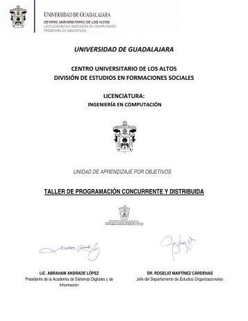 Taller de programación concurrente y distribuida - Centro ...