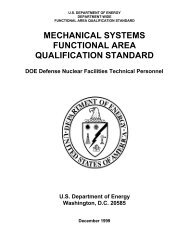 mechanical systems functional area qualification standard