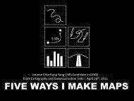 FIVE WAYS I MAKE MAPS