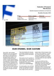 our stories. our culture - Federation of European Film Directors