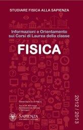 Fisica - Libretto per gli studenti 2012-2013 - Dip. Fisica - Sapienza