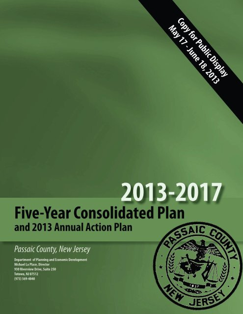 Five-Year Consolidated Plan - Borough of Pompton Lakes