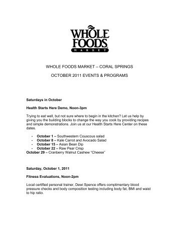 Whole Foods University Coral Springs