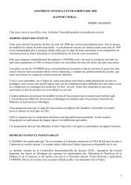 assemblee generale 2007 - Association Nationale des Médecins du ...