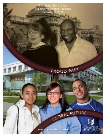 Substantive Change Proposal - PCC Online - Pasadena City College
